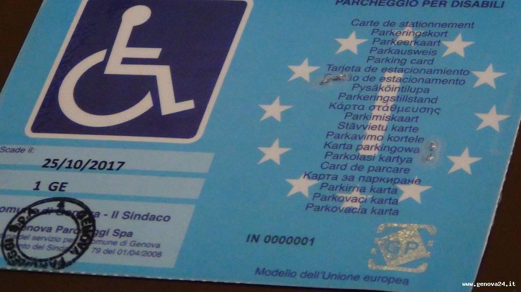 nuovo contrassegno disabili