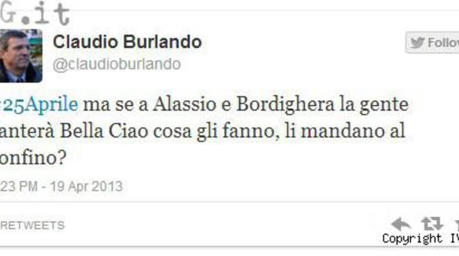 burlando tweet 25 aprile