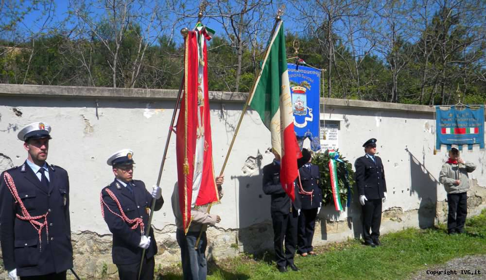 Deposizione alloro Savona 25 Aprile
