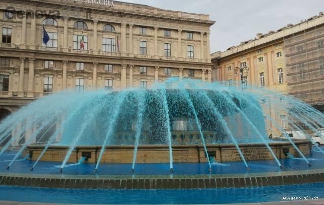 fontana blu piazza de ferrari