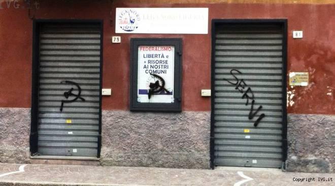 lega nord sede atto vandalico