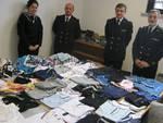 merce contraffatta donata a caritas