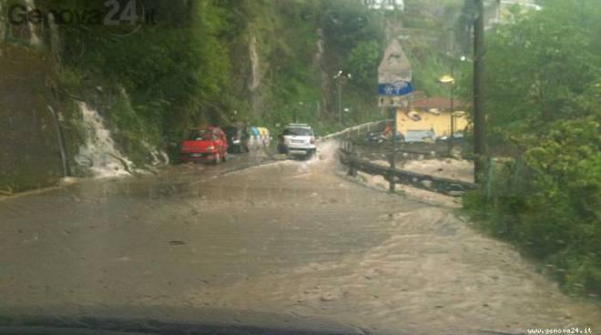 pioggia, via betti rapallo, san francesco