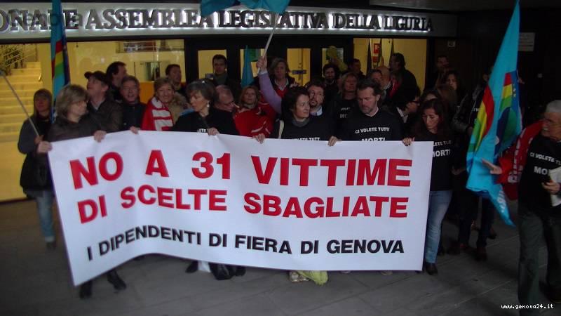 protesta fiera di genova