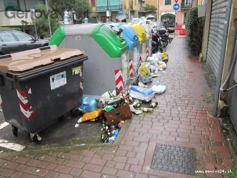 spazzatura rapallo