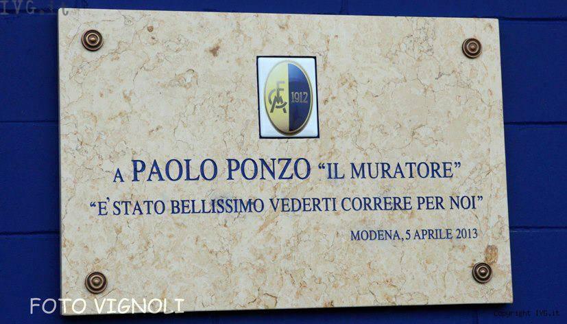 targa Ponzo Modena