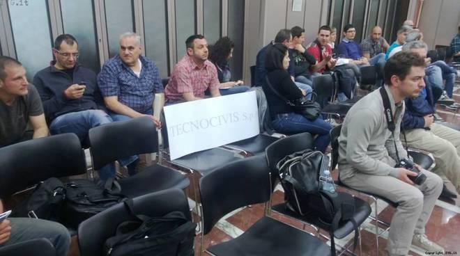 Lavoratori Tecnocivis in consiglio provinciale