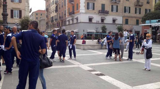 Savona Calcio promozione - festa Palazzo Sisto