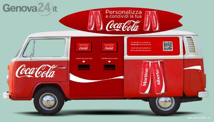 tour condividi una coca-cola