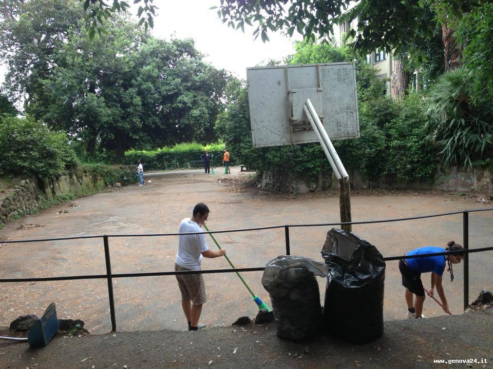 villa rossi volontari pulizia