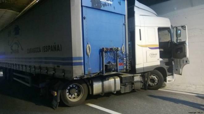 Incidente camion A10 Albisola-Savona