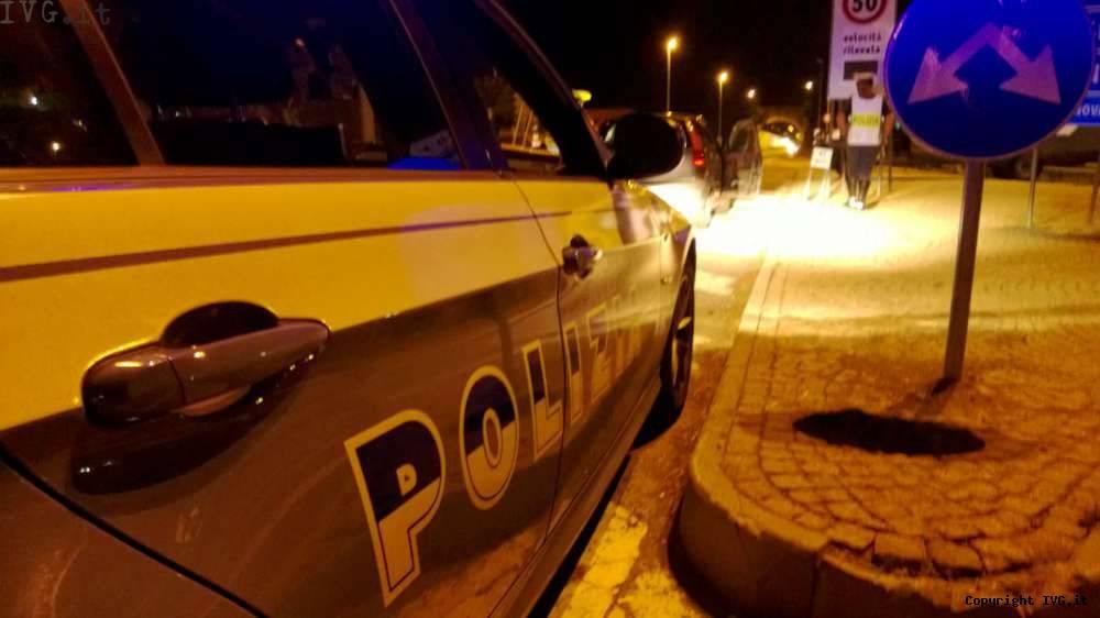 Polizia stradale polizia notte