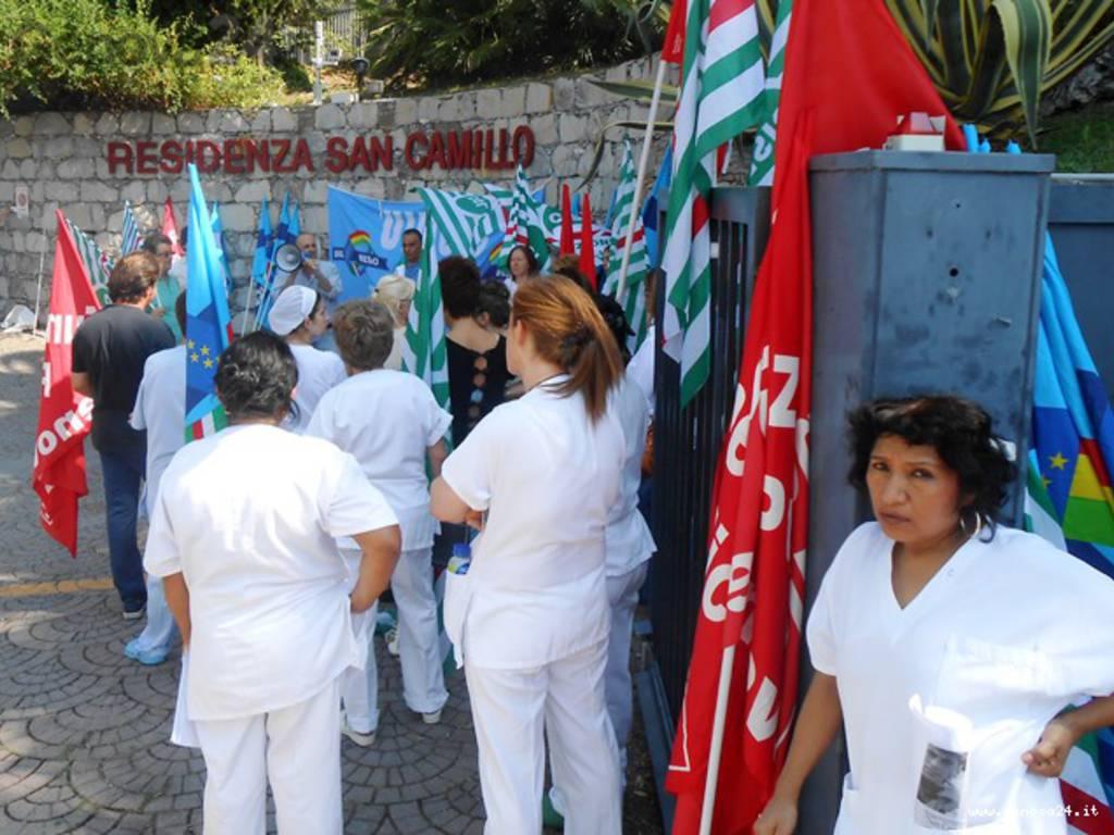sciopero e presidio residenza san camillo