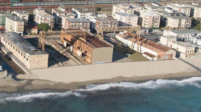 spiaggia ex cantieri Solimano
