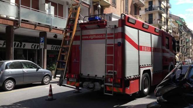 Incendio alloggio via Torino Savona