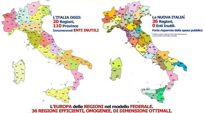 La Societ? Geografica ridisegna l'Italia: la Liguria perde La Spezia