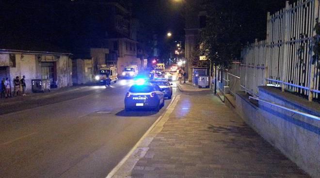 polizia intervento corso mazzini savona