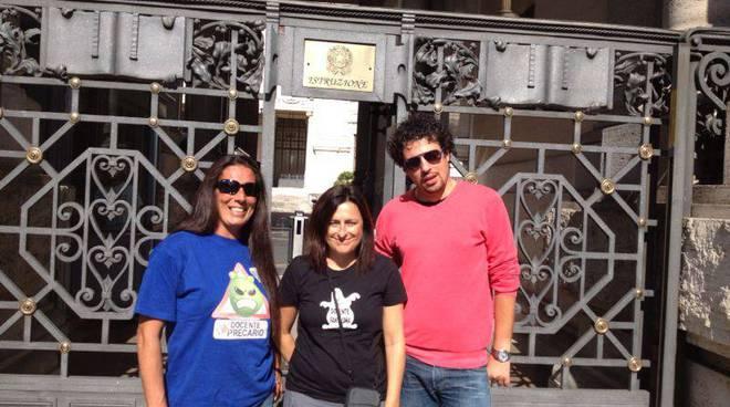 docenti precari protesta roma