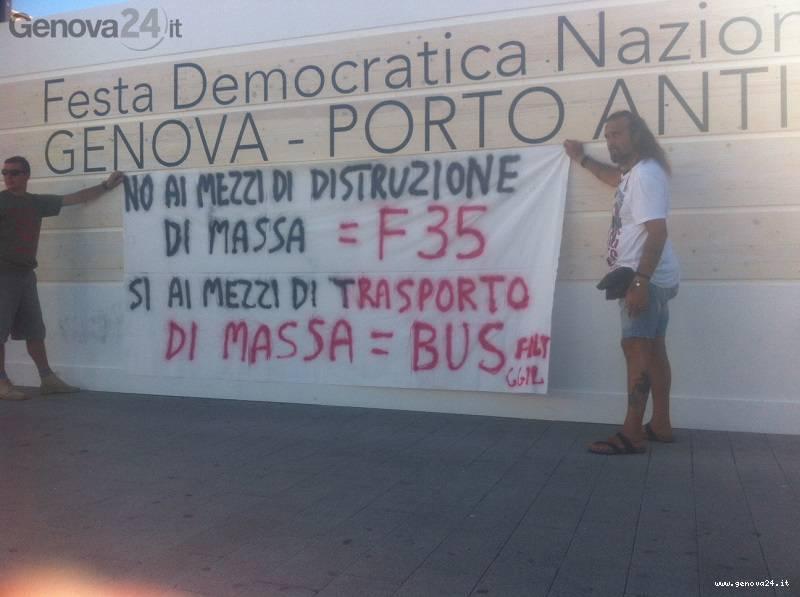 f35 tpl protesta festa pd