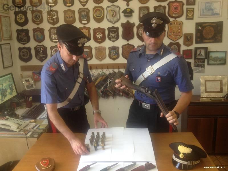 fucile canne mozze carabinieri