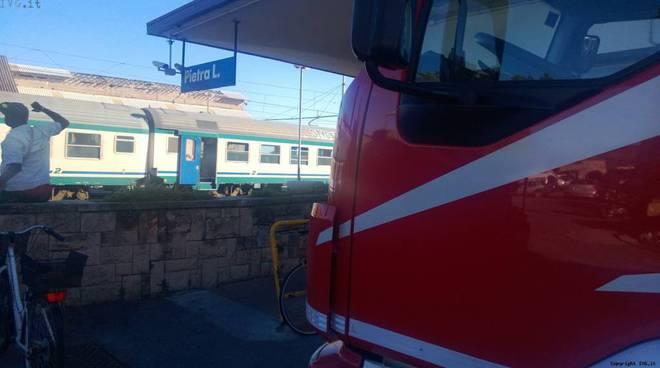 Incendio treno Pietra