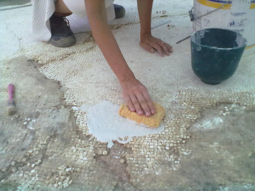 restauro mosaico legino