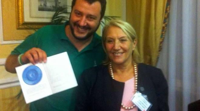 Rosy Guarnieri e Matteo Salvini