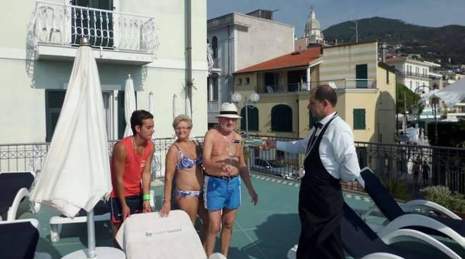 Un wine-tasting per i turisti all'Hotel Savoia di Alassio