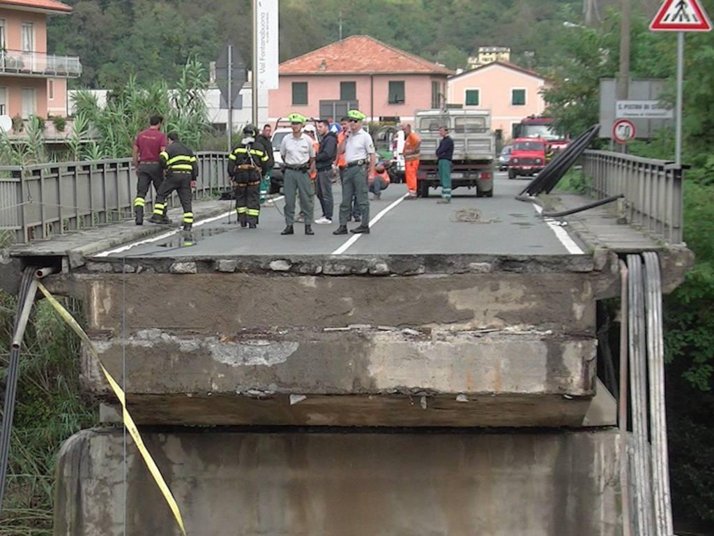 carasco ponte crollato