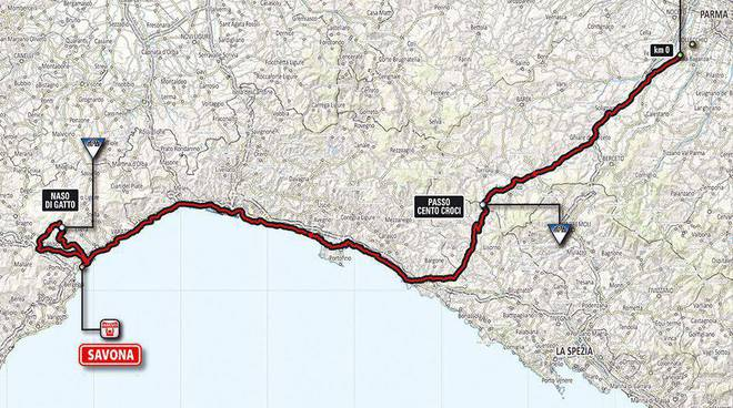 Collecchio-Savona tappa Giro 2014