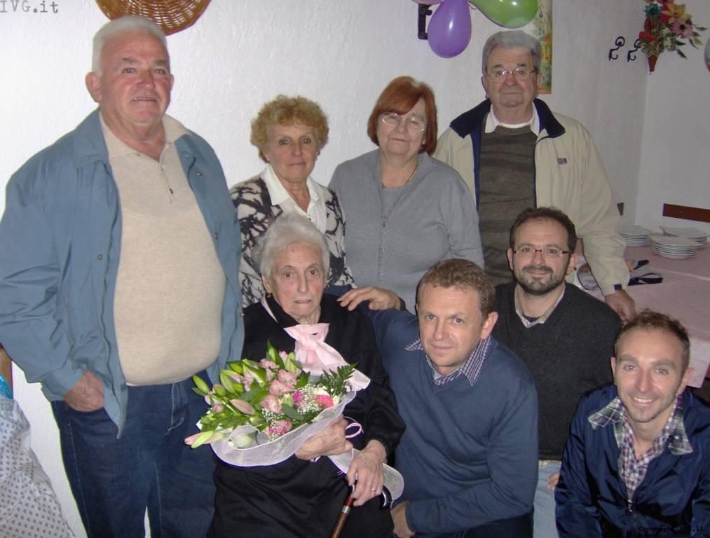 Giuseppina Brunetto ha tagliato il traguardo dei 100 anni