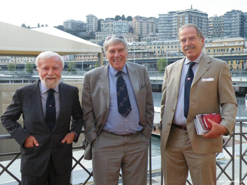 il Com. Antonio Cairo, Mauro Nasciuti e Stefano Bertirotti dirigenti del CUS Genova