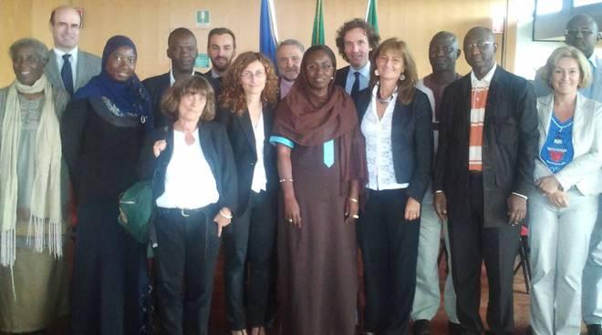 incontro tra l'assessore Rambaudi e una delegazione del Senegal
