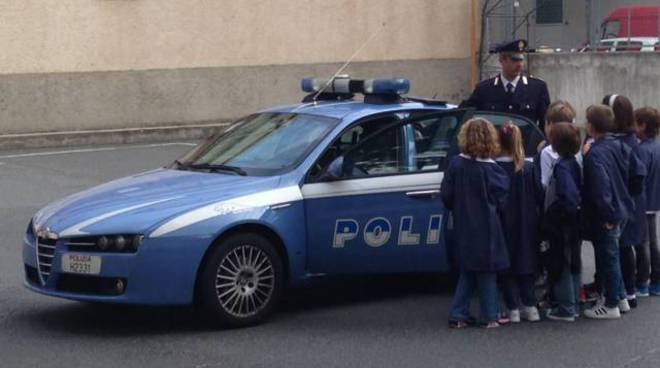 polizia Alassio incontra i bambini