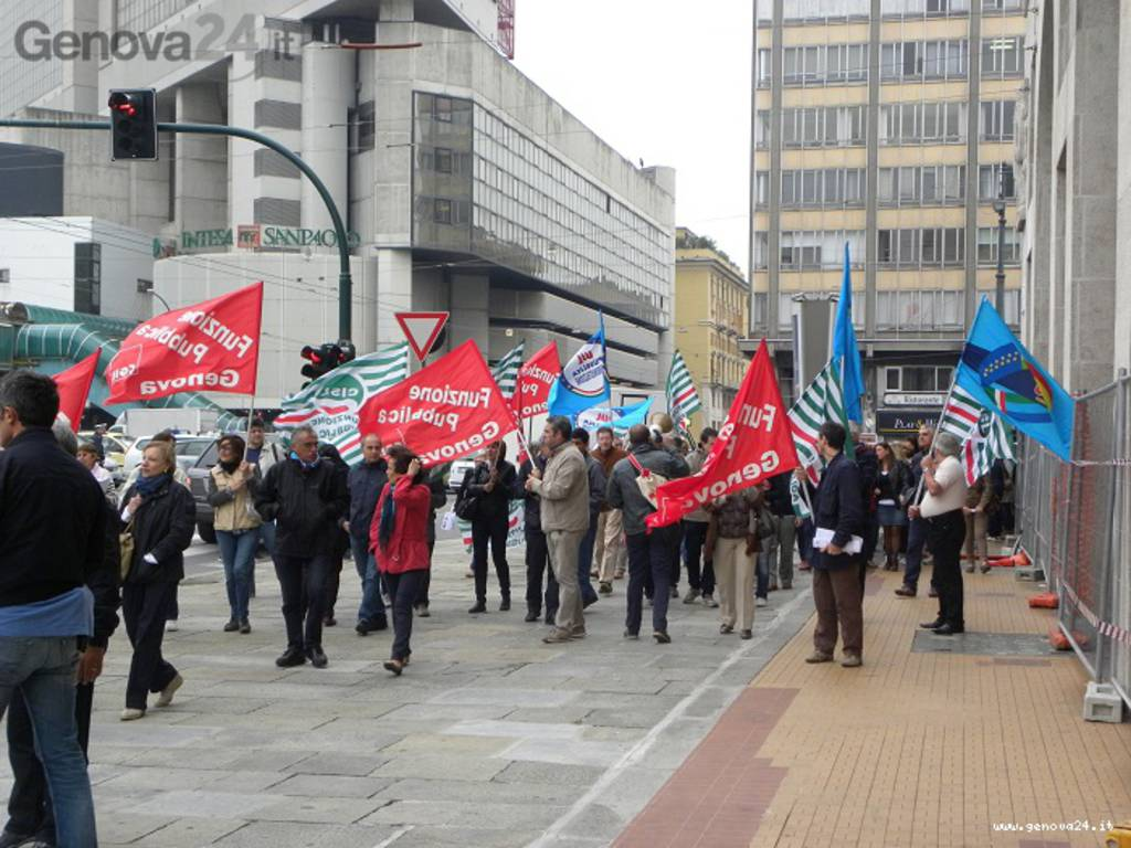 presidio protesta inps