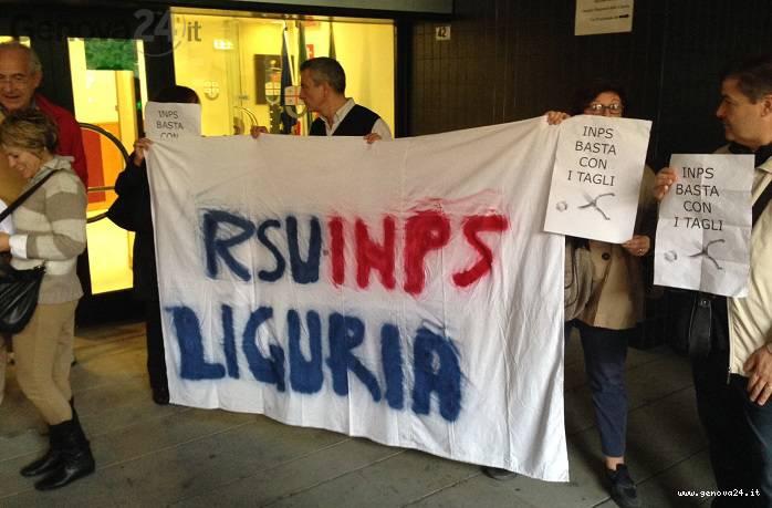 protesta dipendenti inps