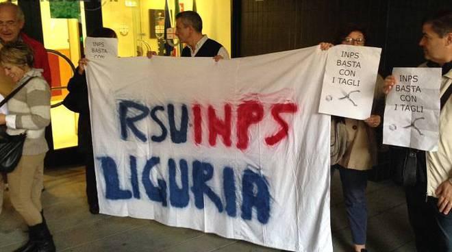 protesta lavoratori inps