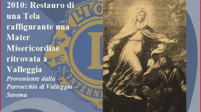 restauro tela Madonna Misericordia