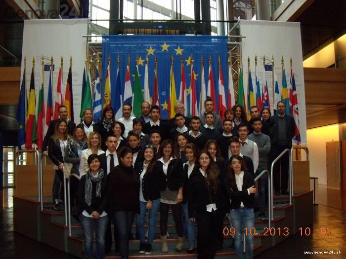 scuola alberghiera lavagna visita parlamento europeo