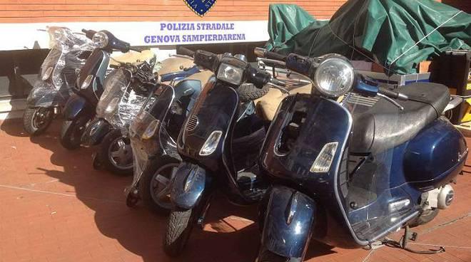 vespe, scooter sequestrati stradale
