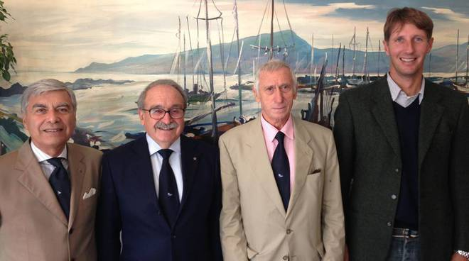 Antonio Micillo, Franco Noceti, Alfredo Mordini e Vittorio D'Albertas