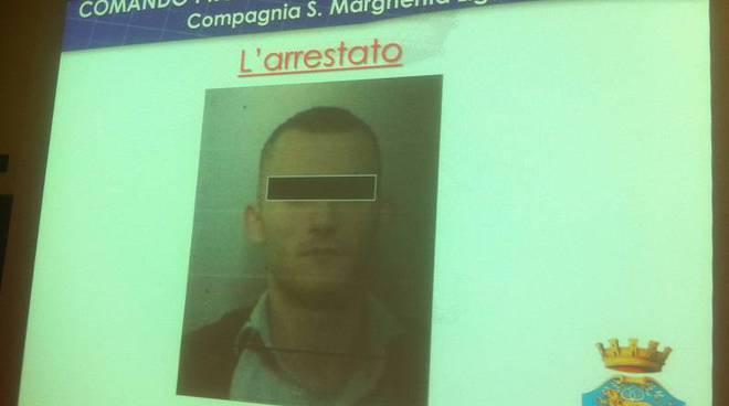 rapina villa camogli, arresto