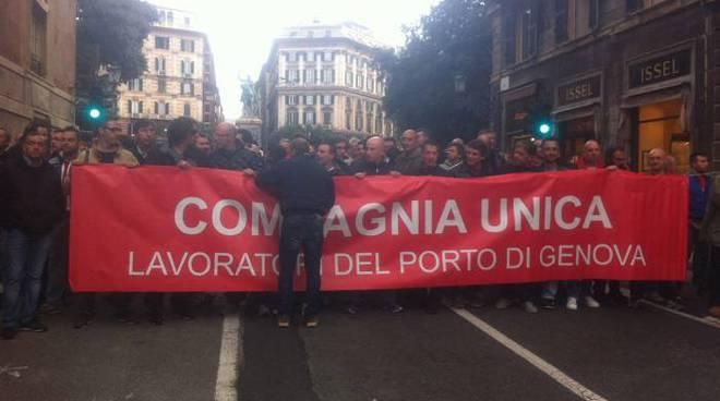sciopero porto genova, portuali