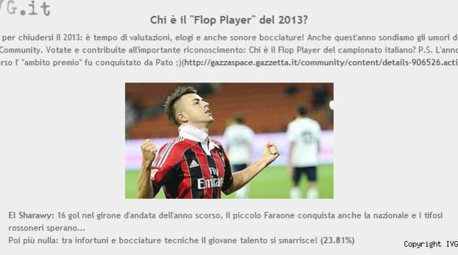 Flop Player 2013, El Shaarawy