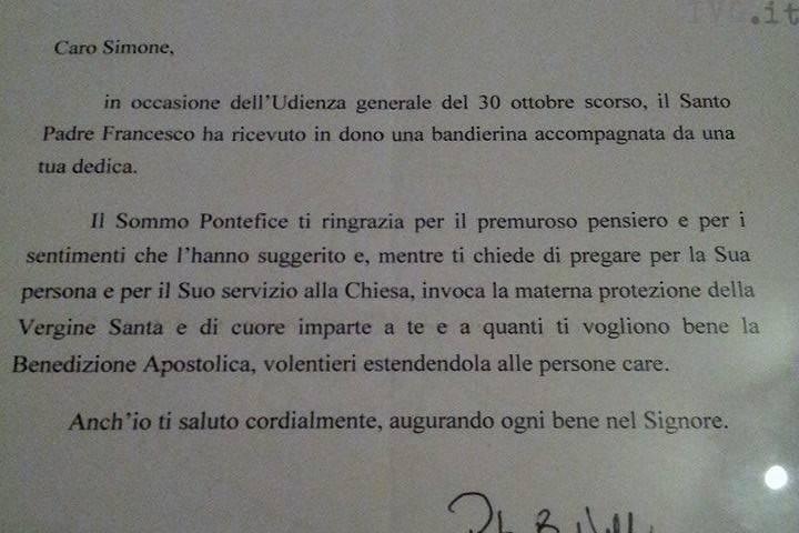lettera papa magliolo