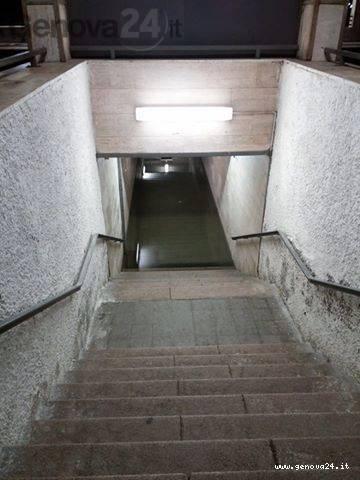 busalla sottopasso stazione allagato
