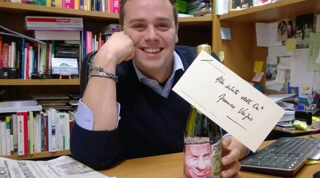 Eraldo Ciangherotti champagne per Franco Vazio