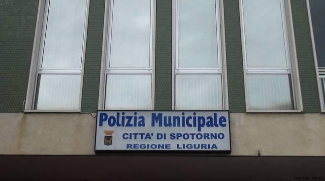 insegna polizia municipale spotorno