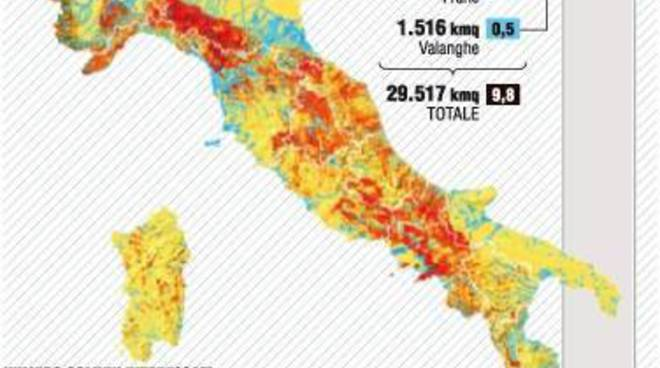 mappa dissesto idrogeologico