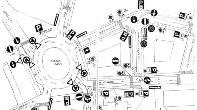 Planimetria Piazza Saffi